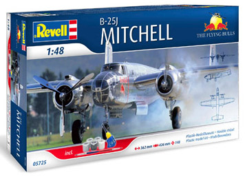 Revell 1/48 Flying Bulls - Mitchell Gift Set image
