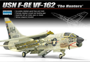 Academy 1/72 USN F-8E VF-162 The Hunters image