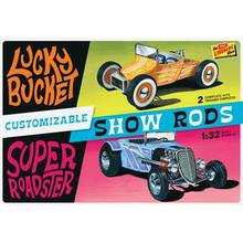 Lindberg 1/25 Customizable Street Rod (2-Pack) Lucky Bucket & Super Roadster image