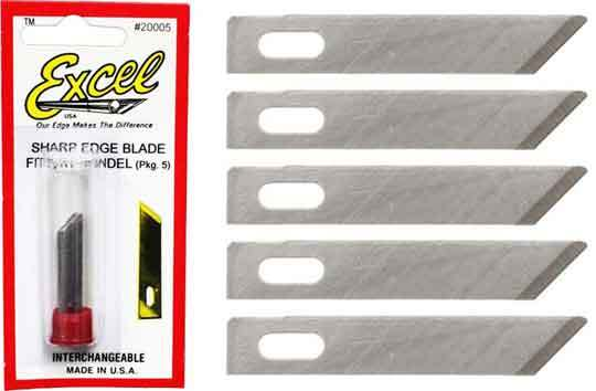 Excel #1 Light Duty Angled Chisel 5 Pack image