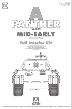 Takom 1/35 Panther w/Full Interior Kit - Mid-Early image