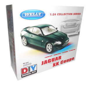 Welly 1/24 Jaguar XK Coupe British Green Diecast Kitset image