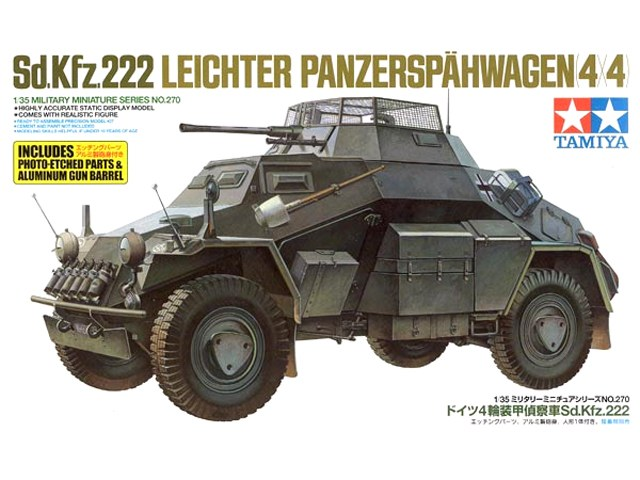 tamiya 1 35 sd kfz 222 w photo etched part plastic models. Black Bedroom Furniture Sets. Home Design Ideas