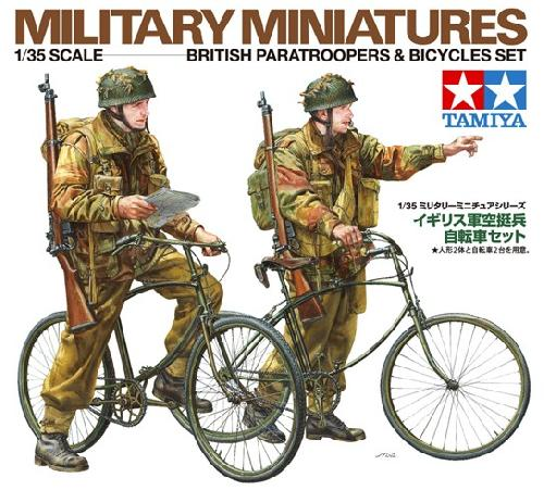 Tamiya 1/35 British Paratroopers and Bicycle Set image