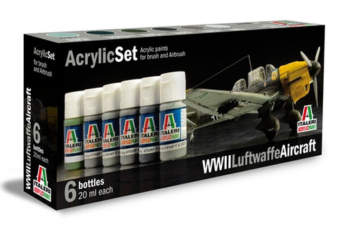 Italeri Luftwaffe WWII Paint Set image
