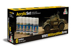 Italeri Military Allied Army Paint Set image