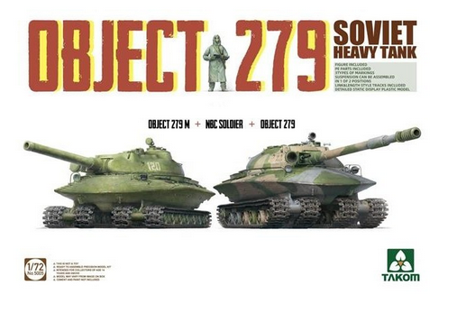 Takom 1/72 NBC Soldier with Object 279 & 279M image
