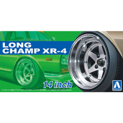 "Aoshima 1/24 Rims & Tires - Long Champ XR-4 14"" image"