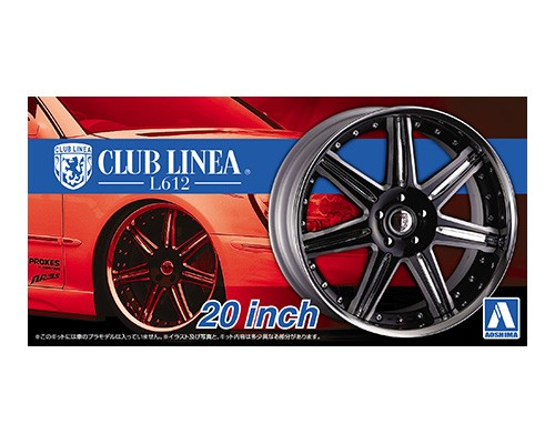 "Aoshima 1/24 Rims & Tires - Club Linea L612 20"" image"