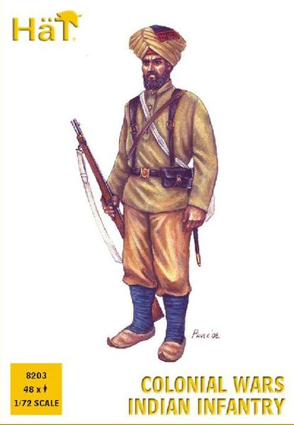 HaT 1/72 Colonial Wars Indian Infantry (48 Pcs) image