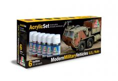 Italeri Acrylic Paint Set - Modern Military Vehicles U.S./Nato image