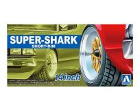 "Aoshima 1/24 Rims & Tires - Super-Shark Short 14"" image"