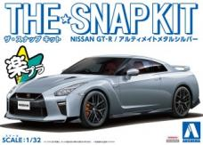 Hasegawa 1/32 Nissan R35 GT-R Ultimate Metal Silver Snap Kit image