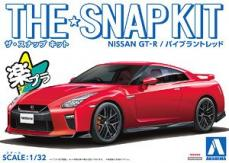 Hasegawa 1/32 Nissan R35 GT-R Vibrant Red Snap-Kit image