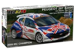 Belkits 1/24 Peugeot 207 S2000 Rally Car 2009 image