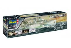 Revell 1/72 Flower Class Corvette - Technik Model image