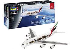 "Revell 1/144 Airbus A380-800 Emirates ""Wildlife"" Livery image"