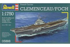 "Revell 1/1750 French Aircraft Carrier ""Clemence image"