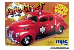 MPC 1/25 '40 Ford Fire Chief Snap Kit image