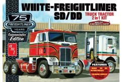 AMT 1/25 White Freightliner 2-in-1 SC/DD Cabover Tractor (75th Anniversary) image
