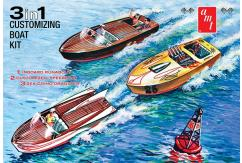 AMT 1/25 Customizing Boat Set - 3 in 1 image