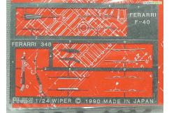 Fujimi 1/24 Photo Etch Wiper Set Ferrari F40/348 image