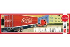 AMT 1/25 Fruehauf Beaded Van Semi Trailer - Coca-Cola image