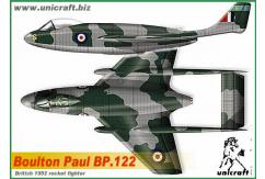 Unicraft Models 1/72 Boulton Paul BP.122 (Resin) image