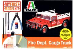 Italeri 1/35 Fire Dept Cargo Truck Model Set with DVD image