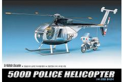 Academy 1/48 Hughes 500D Police Helicopter image
