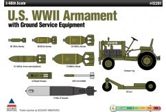 Academy 1/48 WWII Armamemt With Ground Service Equipment image