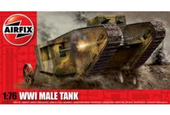 Airfix 1/76 WWI Male Tank image