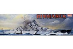 Academy 1/800 Bismarck WWII German Battleship - Motorised image
