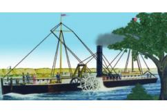 Lindberg 1/96 Fulton's Clermont Paddle Wheel Streamship image