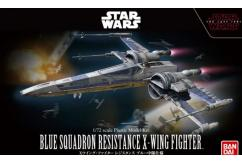 Bandai 1/72 Star Wars Blue Squadron Resistance X-Wing Fighter - Snap Kit image