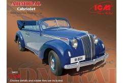 ICM 1/24 Admiral Cabriolet WWII Passenger Car image