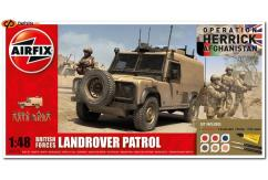 Airfix 1/48 British Forces Landrover Patrol Model Set image