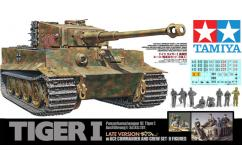 Tamiya 1/35 Tiger I w/Ace Command and Crew (8 Figurines) image