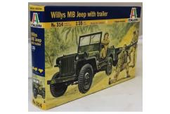 Italeri 1/35 Willy's HB Jeep with Trailer image