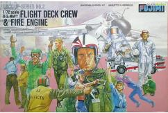Fujimi 1/72 US Navy Flight Crews & Fire Engine image
