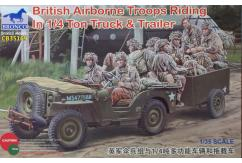 Bronco 1/35 British Airbourne Troops Riding in 1/4 Ton Truck & Trailer image