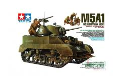 Tamiya 1/35 M5A1 with 4 figurines image