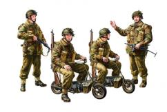 Tamiya 1/35 British Paratroops with Small Motorcycle image