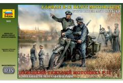 Zvezda 1/35 German Motorcyclist with Officer image