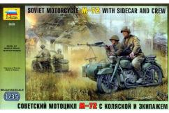 Zvezda 1/35 Soviet M72 Motorcycle Team with Sidecar image