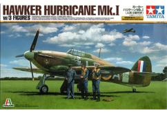 Tamiya 1/48 Hurricane Mk1 with 3 figures image