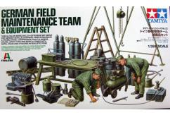 Tamiya 1/35 German Field Maintenance Team & Equipment Set image