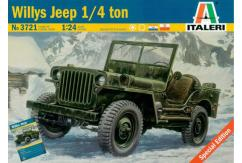Italeri 1/24 Willy's Jeep 1/4 Ton with PRM image