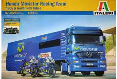 Italeri 1/24 Honda Movistar Racing Team Truck and Bikes image
