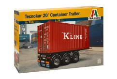 Italeri 1/24 Container on Trailer - 20 Footer image